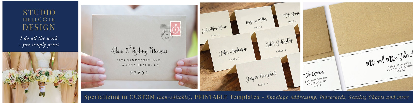 Customized Printable Envelopes Place von StudioNellcoteDesign