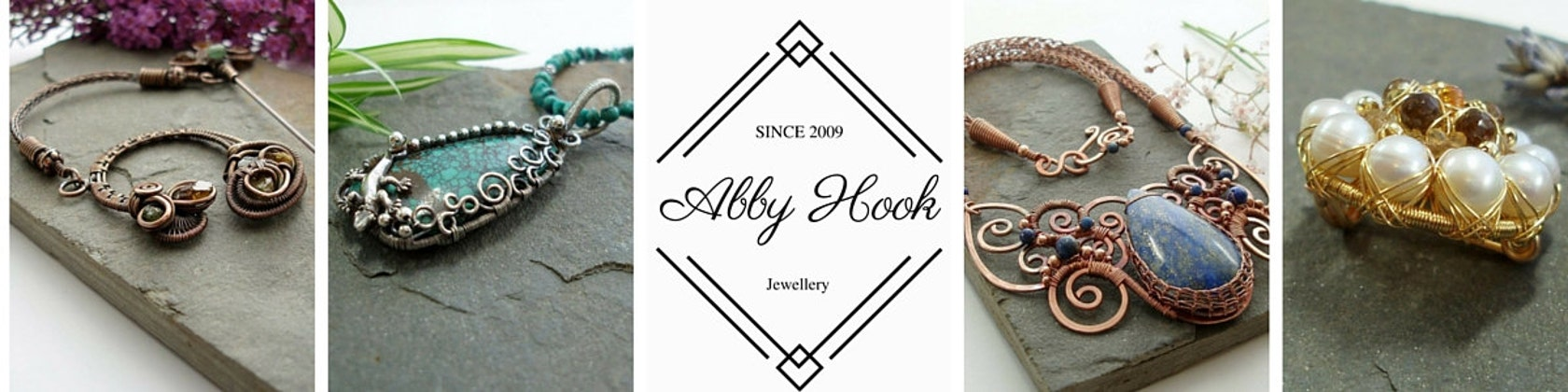 Stunning Wire jewelry and tutorials for the by Abbyjewellery