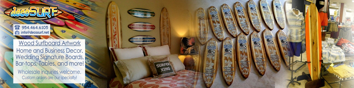 Wood Surfboard Wall Art Interior Home Decoration
