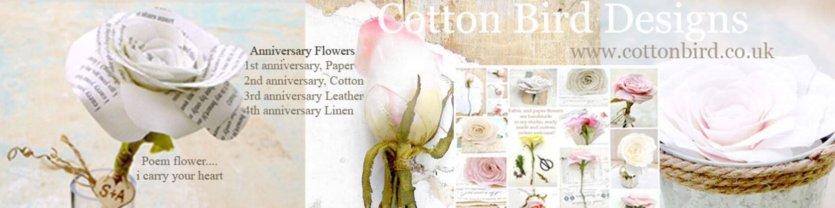 Wedding Anniversary www.cottonbird.co.uk von CottonBirdDesigns
