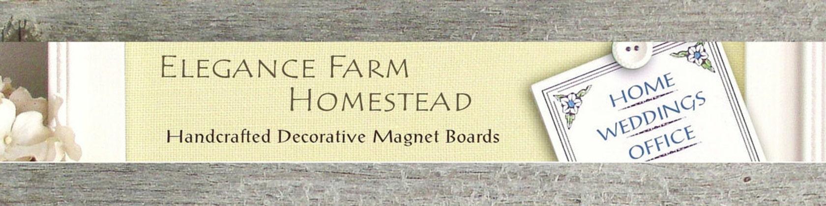 Magnet Bulletin Board Framed Fabric Magnetic von EleganceFarmHome