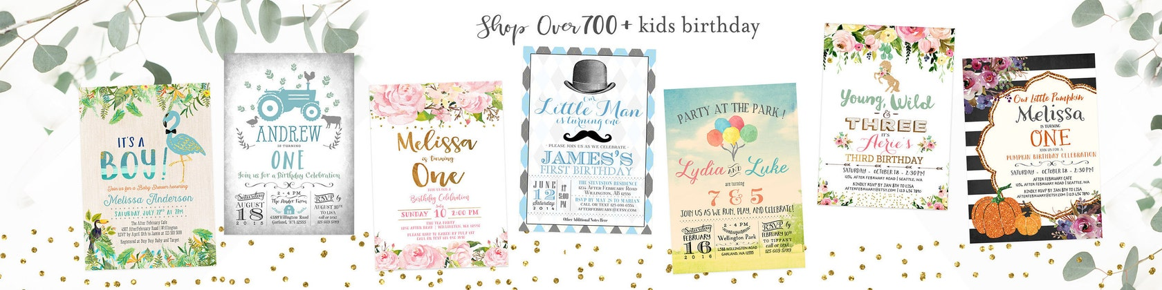 Invitation . Decor . Sign . Games . Favors von AfterFebruary