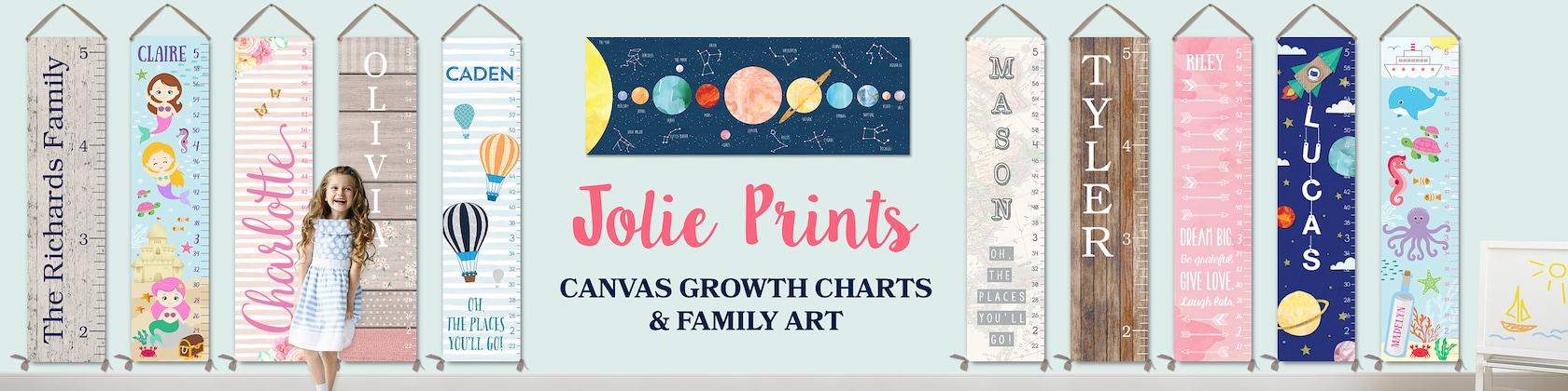 Growth Charts Personalized Kids Canvas Growth von JoliePrints