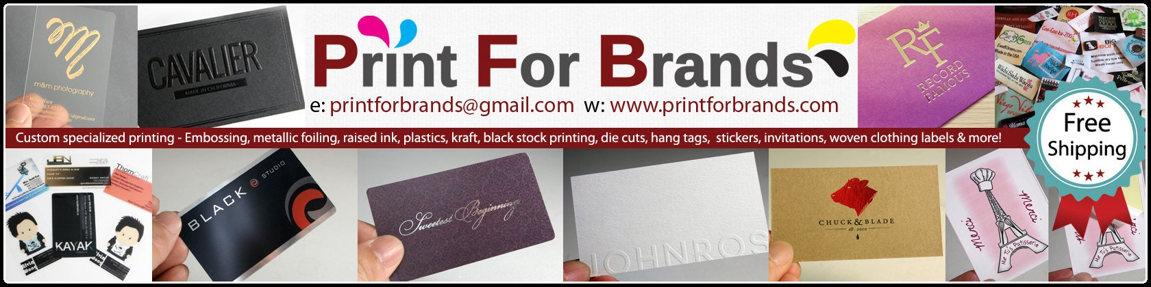 Custom business printing and woven fabric labels by printforbrands