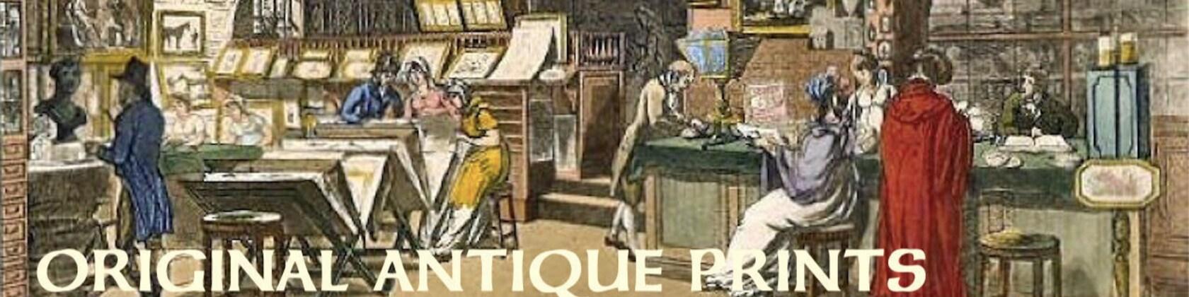 ANTIQUE ENGRAVINGS & LITHOGRAPHS 16th to por antiqueprintstore