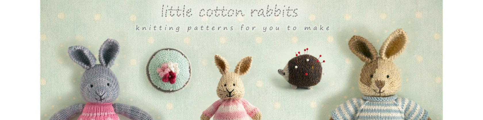 sweetly detailed toy animal knitting by Littlecottonrabbits