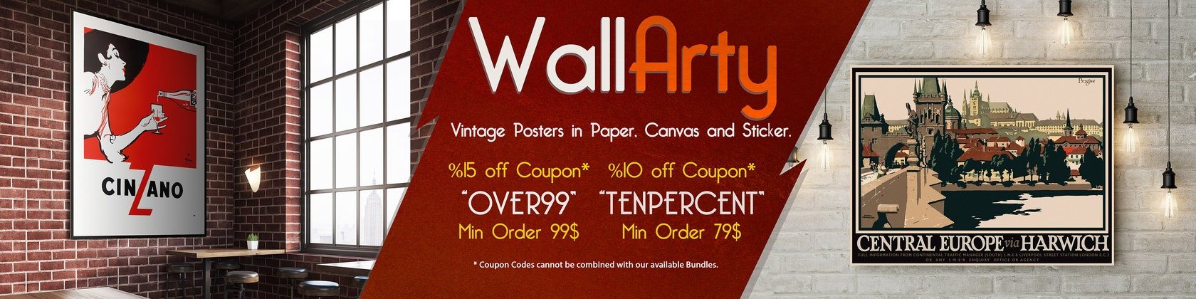 Decorative vintage poster sticker canvas art prints by wallarty fandeluxe Image collections