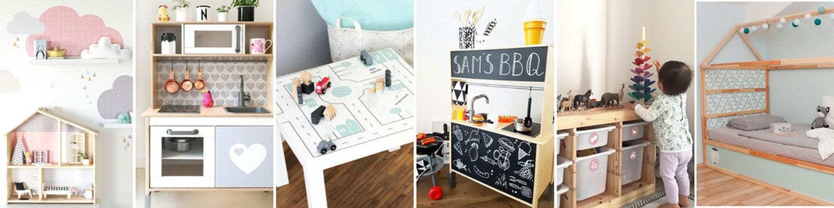 IKEA wall decor and furniture stickers por Limmaland en Etsy