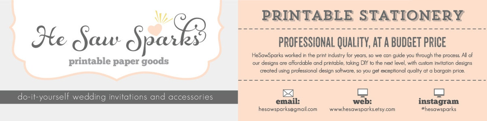 Printable wedding invitations by hesawsparks on etsy hesawsparks printable wedding invitations stopboris Images