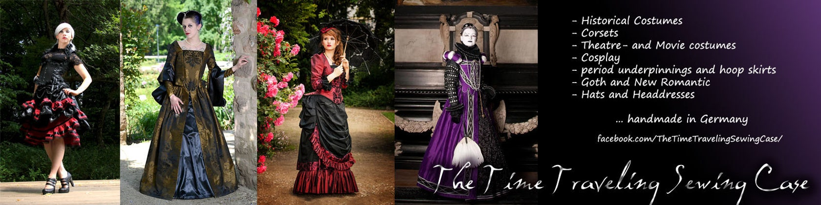 Gothic historical clothes Lolita corsets by TimeTravelingTailor