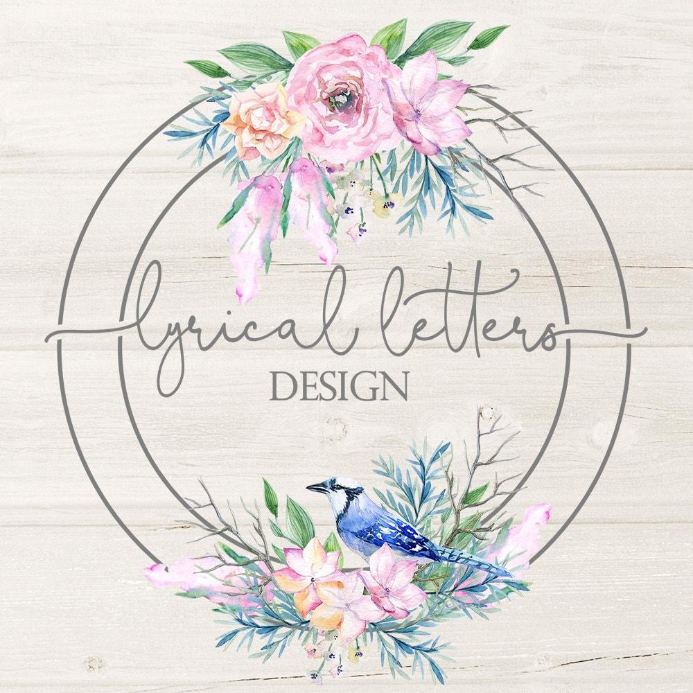 Lyrical Letters Design Commercial Use Vector Art por lyricalletters