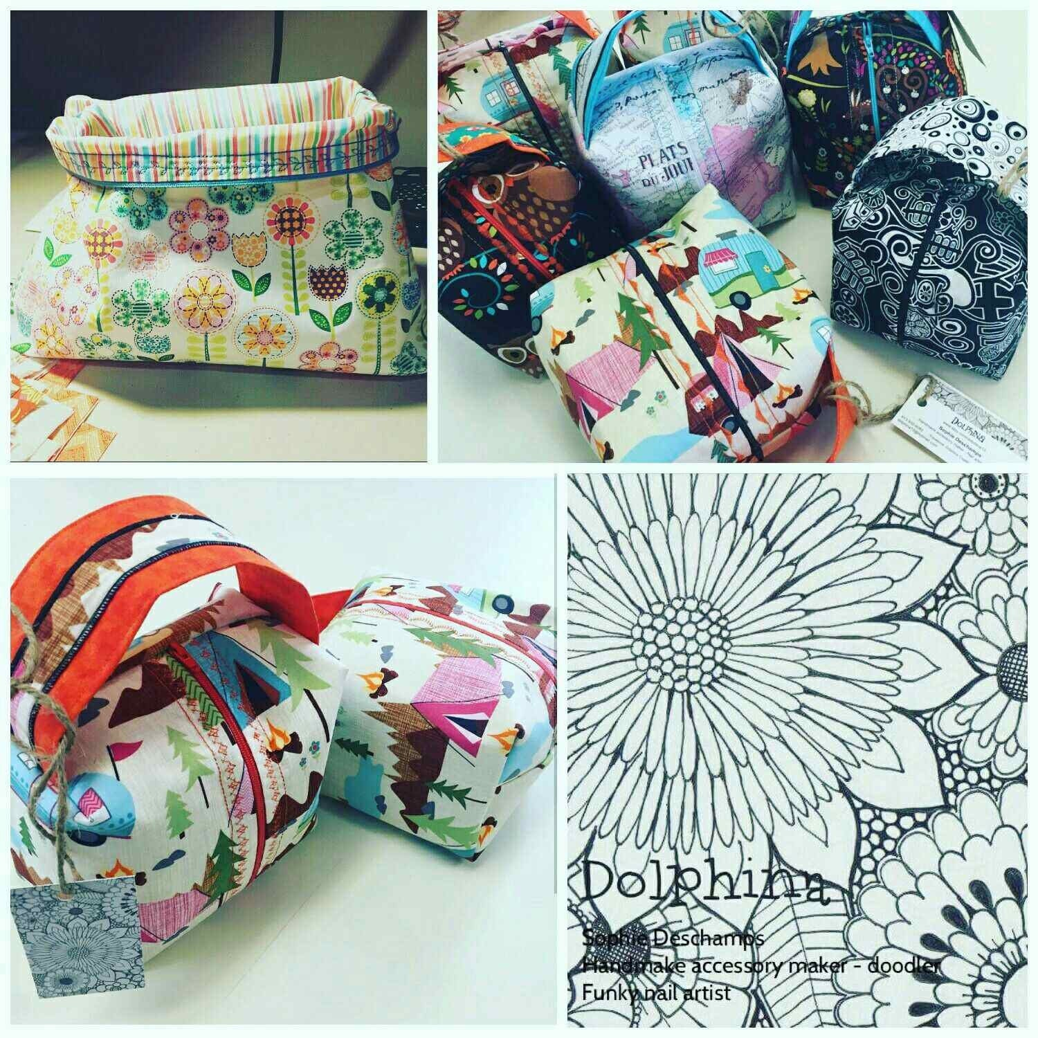 Beautifully crafted project bags for fibre lovers by dolphina13