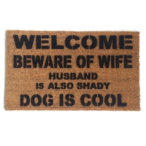 Funny rude doormats art you can wipe your by damngooddoormats