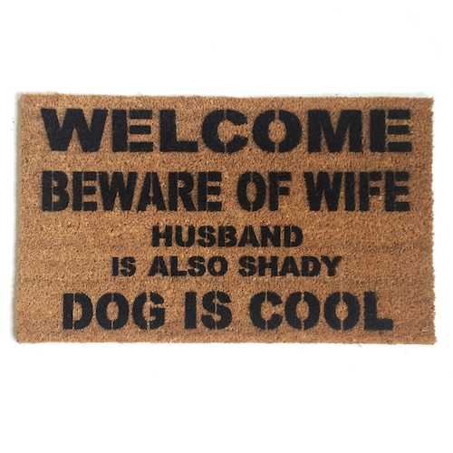 sc 1 st  Etsy & Funny u0026 rude doormats Art you can wipe your by DamnGoodDoormats