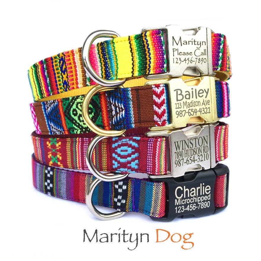Personalized ID dog collar dog harness & dog leash von MaritynDog