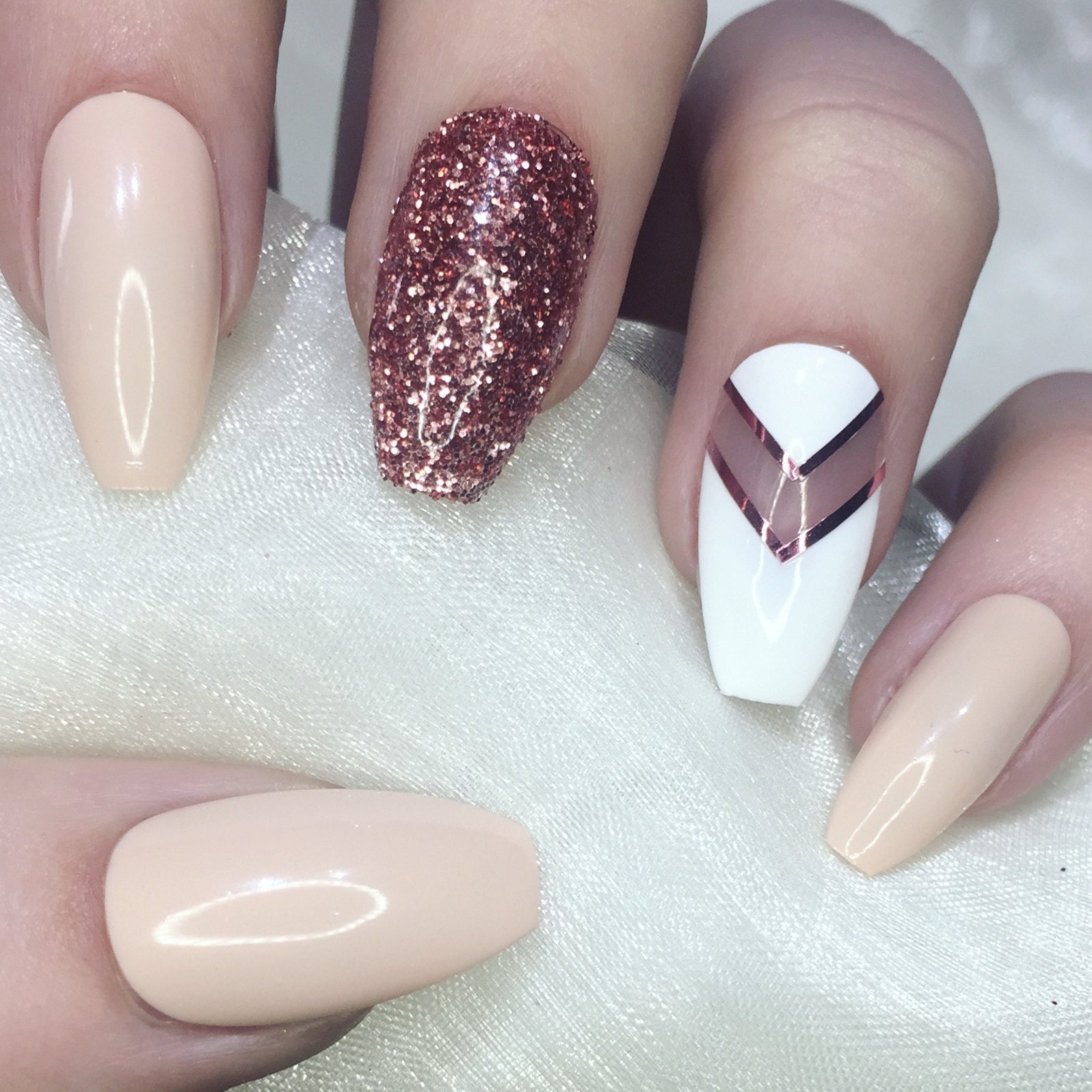 Instant press on manicure for any occasion by nailartbygeorgia