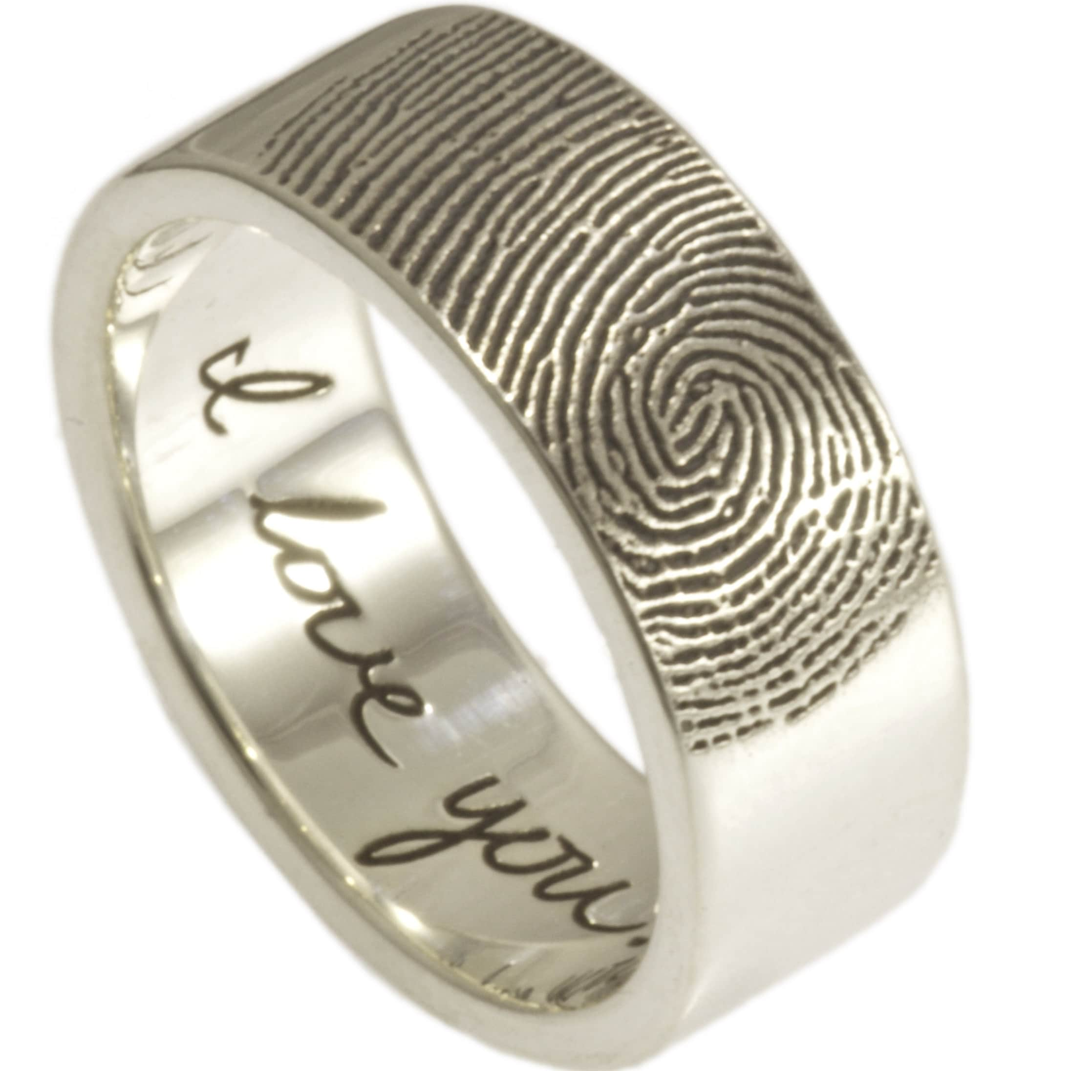 wedding rings fingerprint most popular engagement custom ring