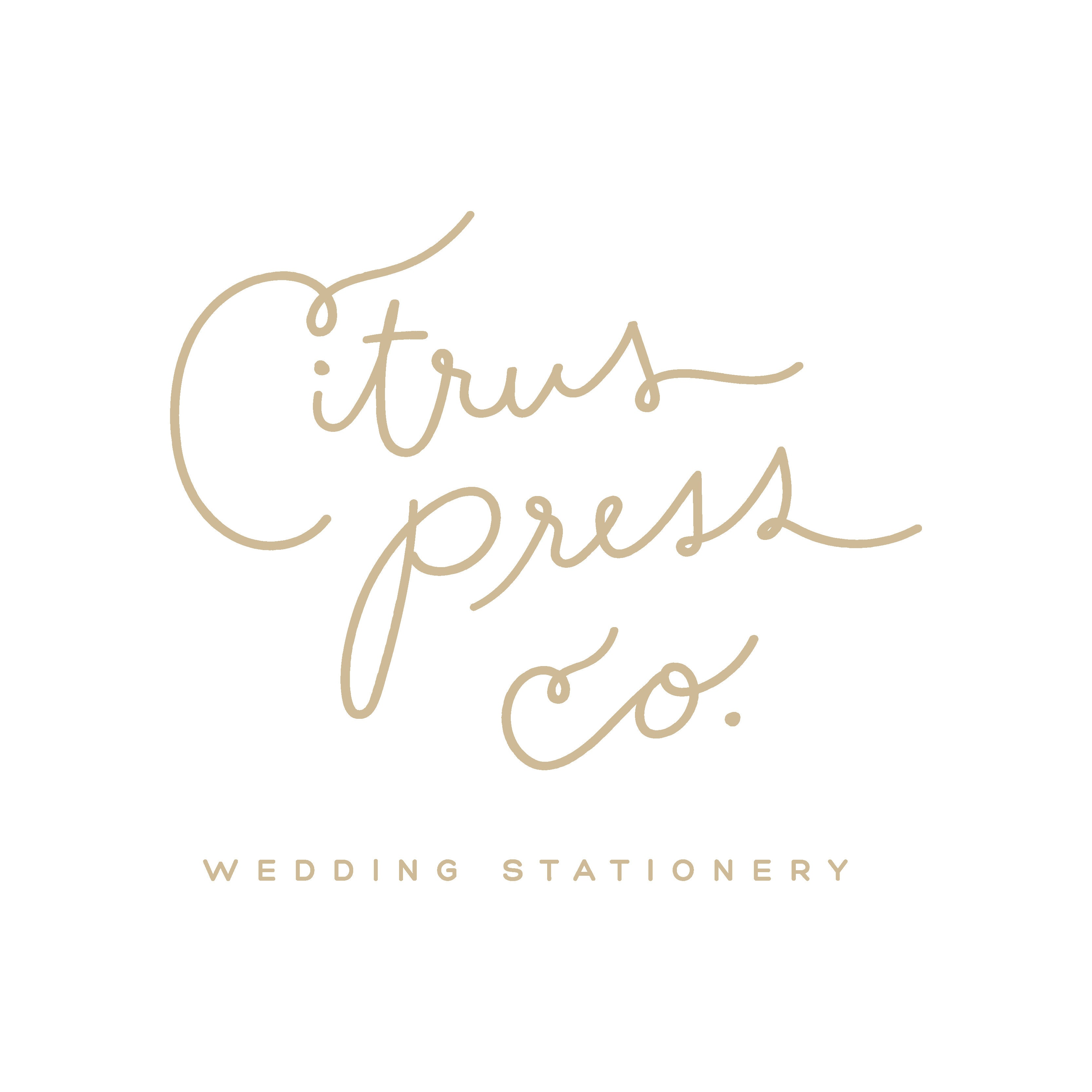 Botanical Wedding Invitations Citrus Press Co by CitrusPressCo