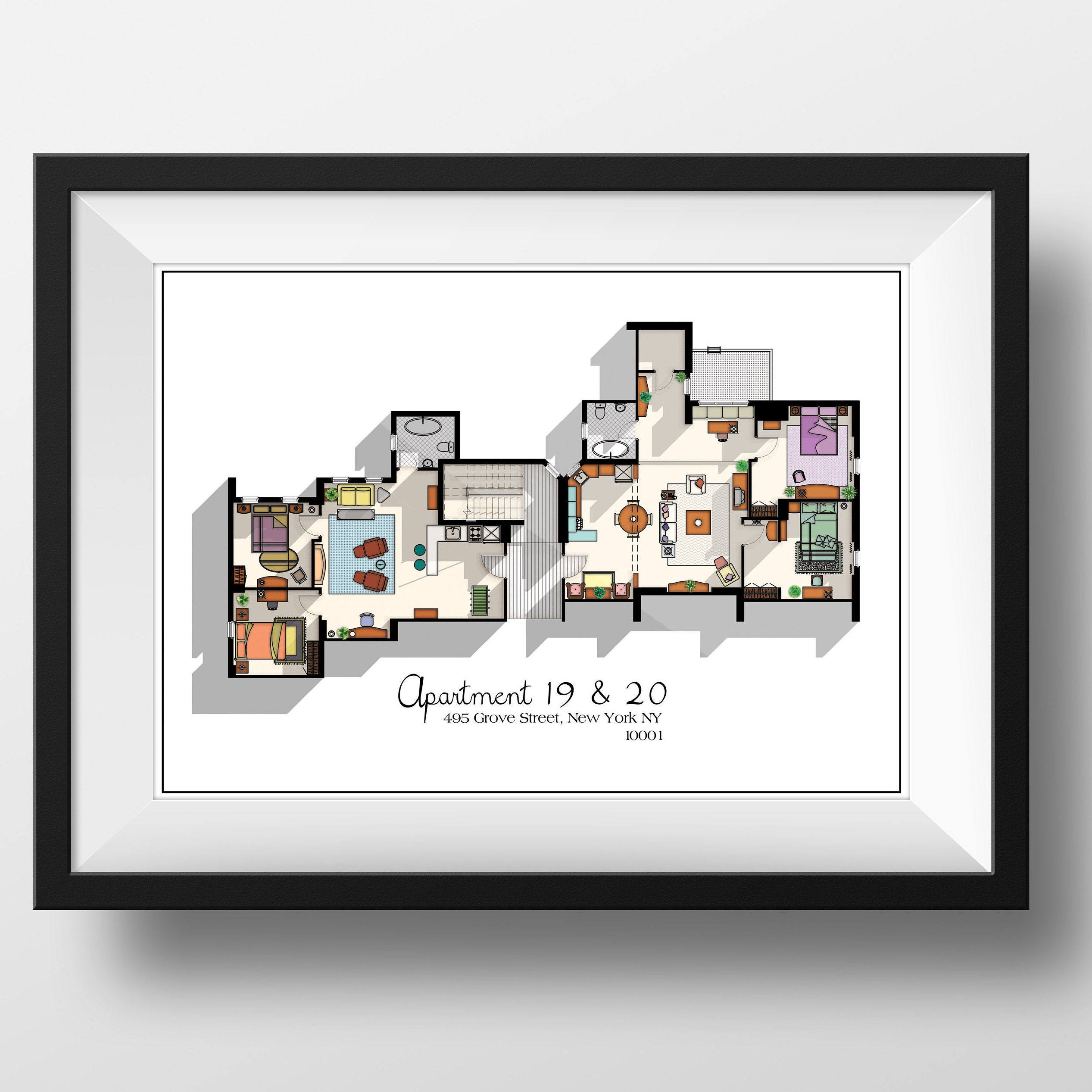 Room Store Chandler: Central Perk Cafe Floor Plan Friends TV Show Layout Central