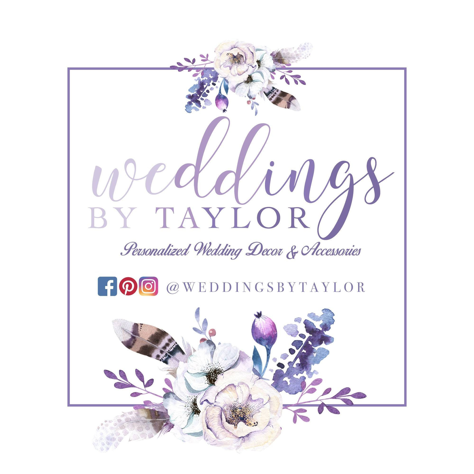 Personalized Wedding Decor and Accessories by by WeddingsbyTaylor