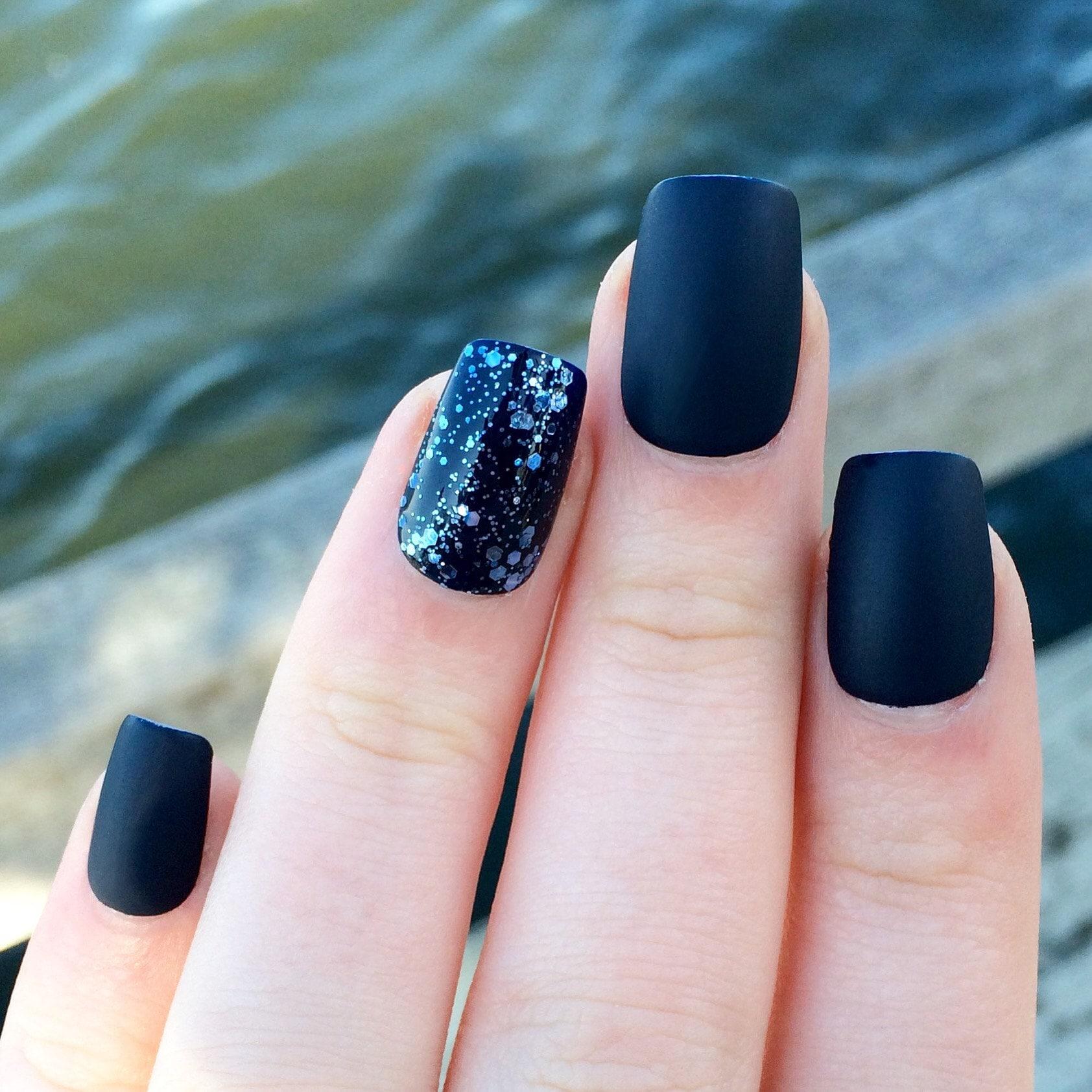 fake nails stiletto nails holographic nails holo