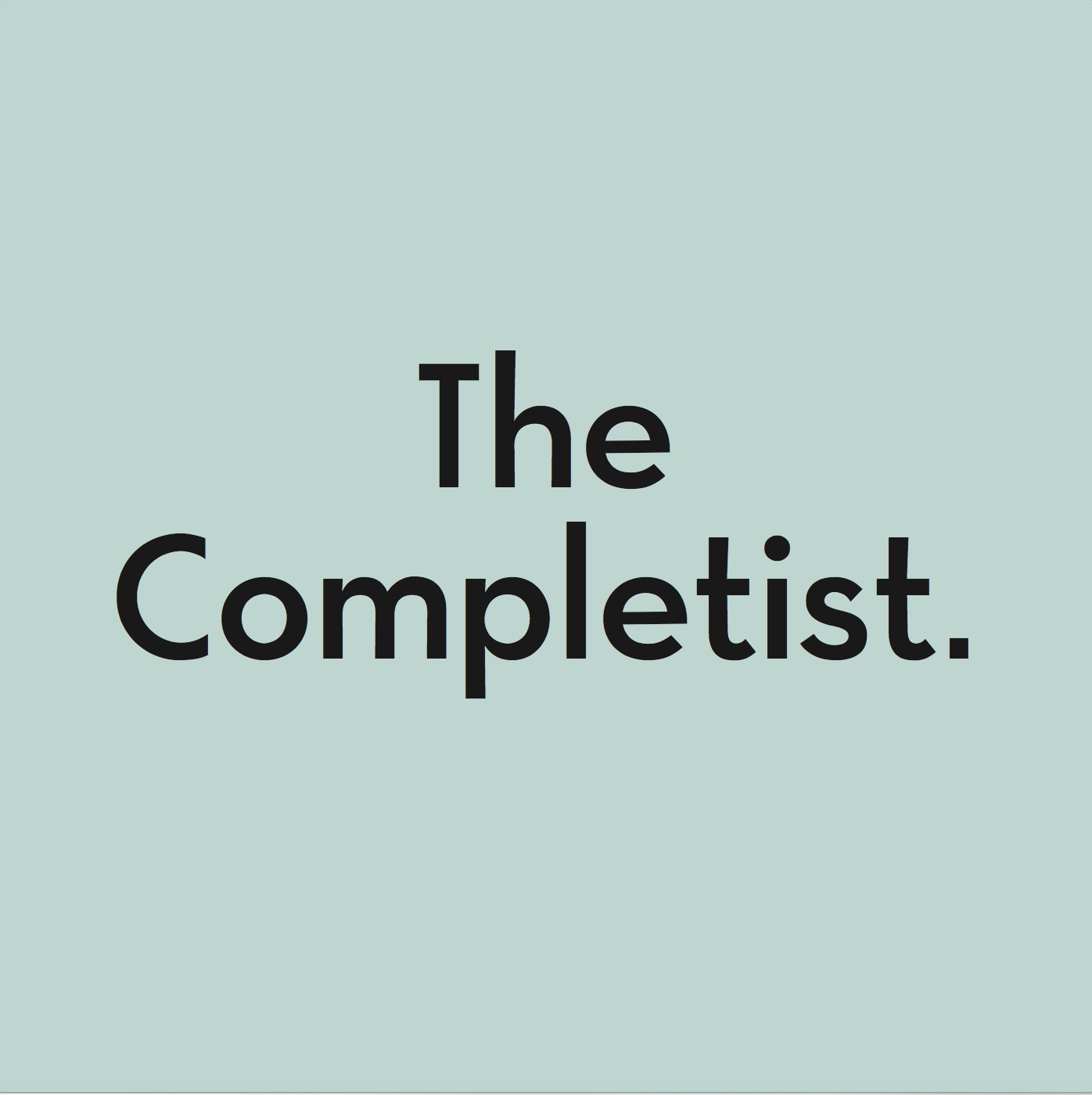 The Completist by TheCompletistLondon on Etsy