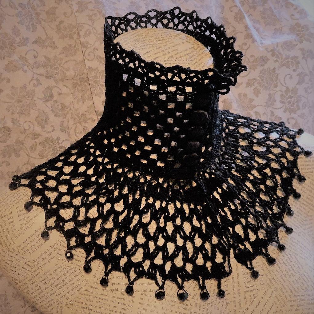 Black Lace Wedding Bridal Crochet Purse Reticule Handbag