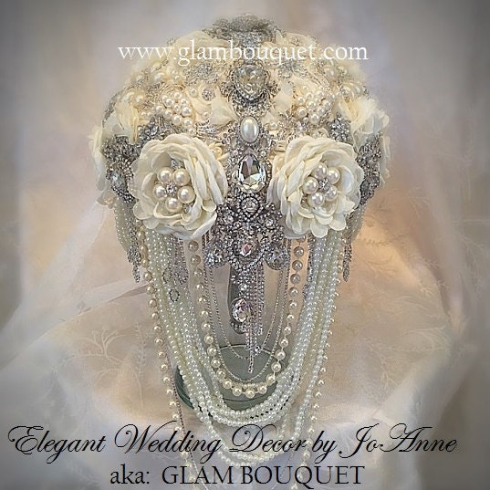 CUSTOM BROOCH BOUQUETS Wedding Bouquets & by Elegantweddingdecor