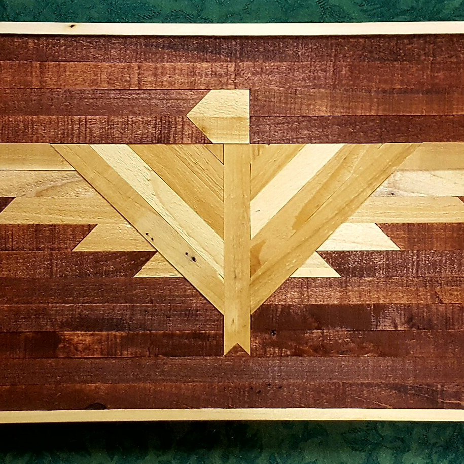 Geometric Shape Rustic Reclaimed wood Wall Art Optical
