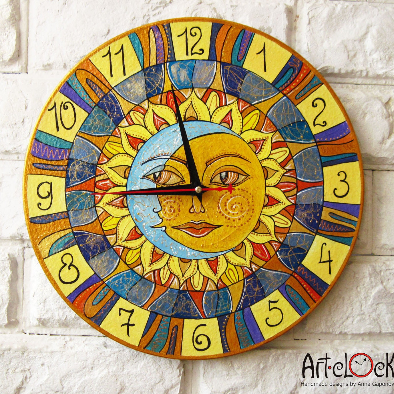 Art Wall Clocks Art Print Home decor by ArtClock on Etsy