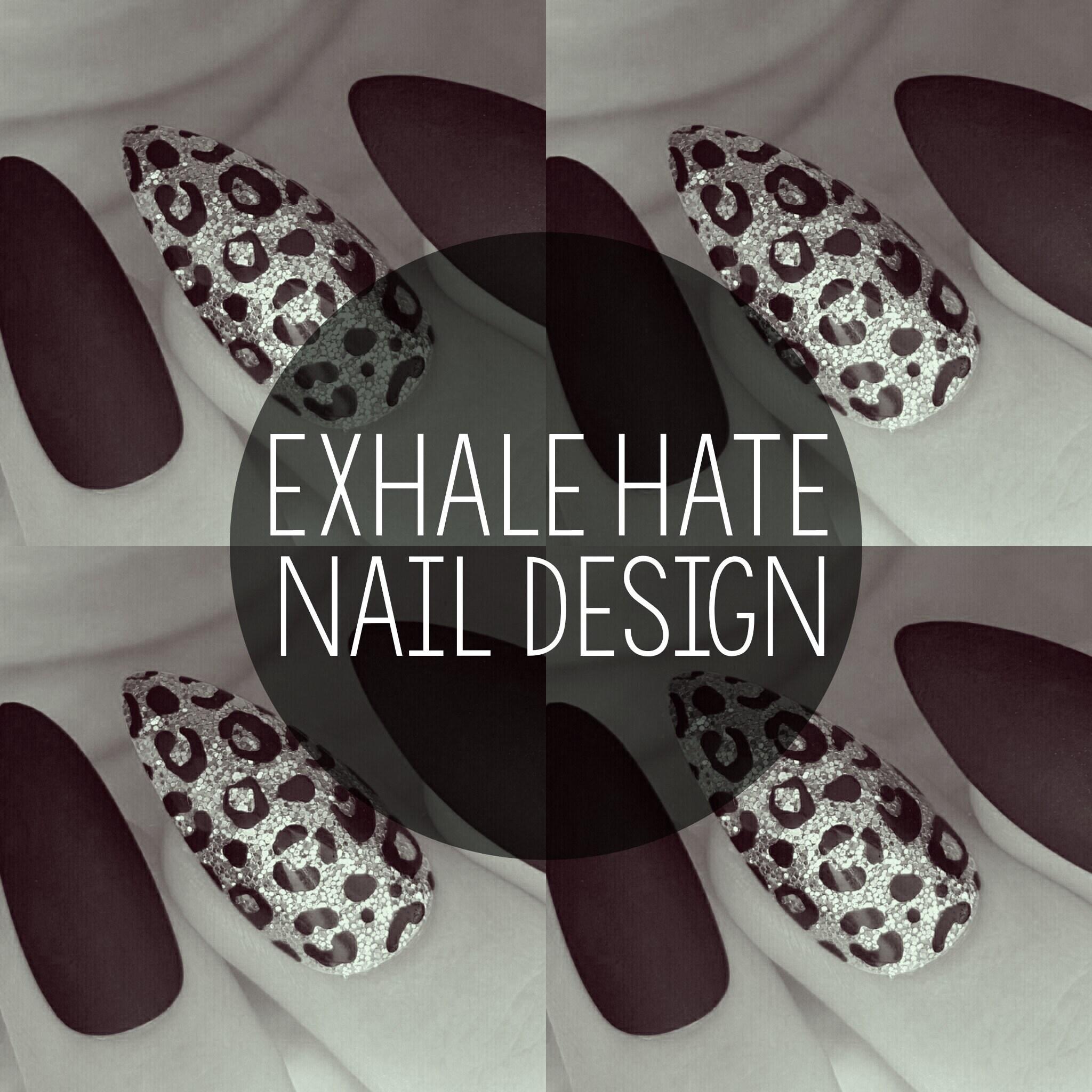 Exhale Hate Nail Design www.exhalehate.com von ExhaleHate auf Etsy