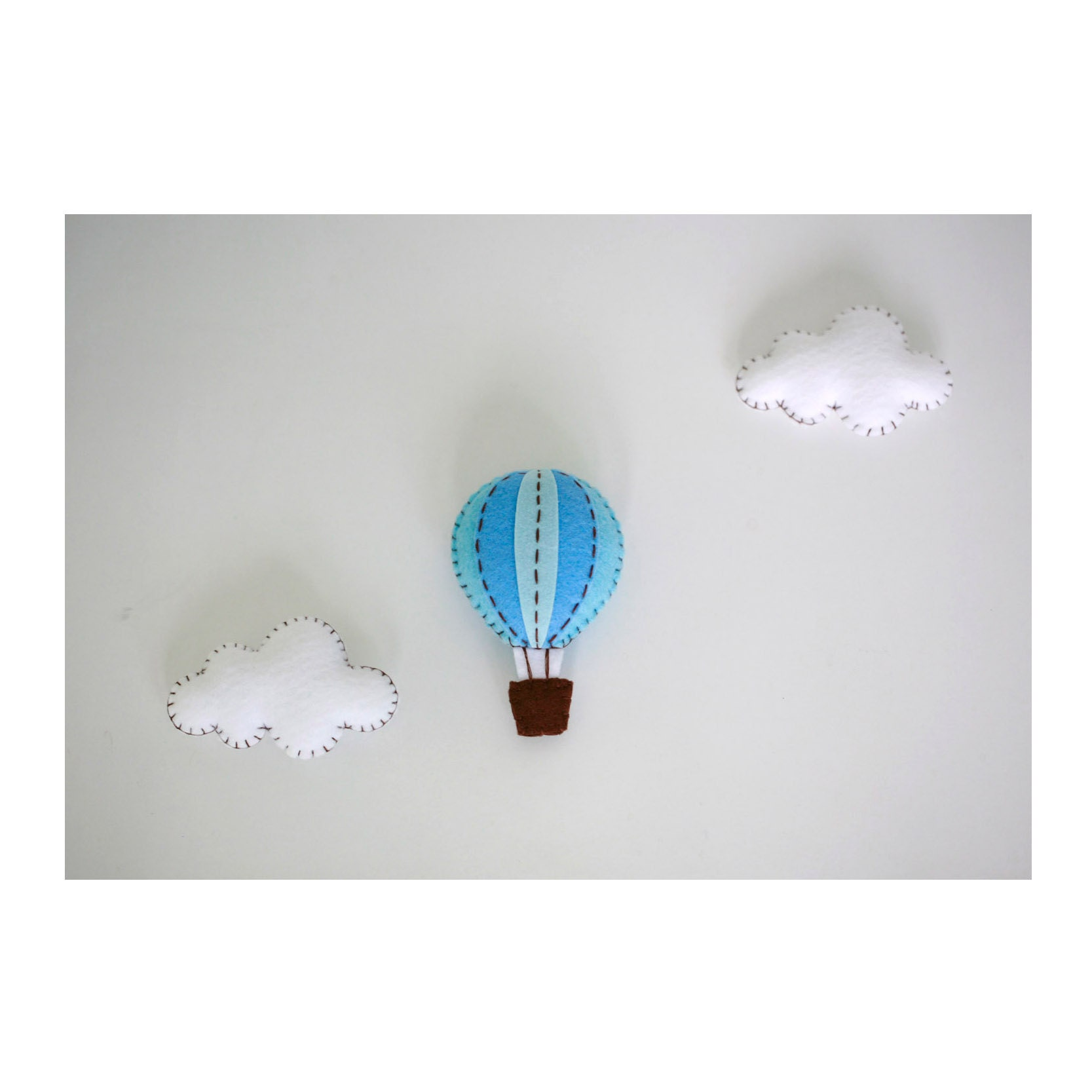 baby mobilehot air balloons mobilefaux fur rug by LovelySymphony