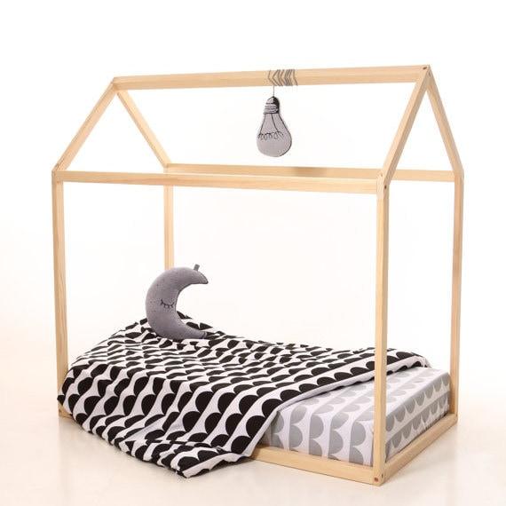Kinder Bett 190x90cm Haus Bett Kinderbett Holzbett Haus