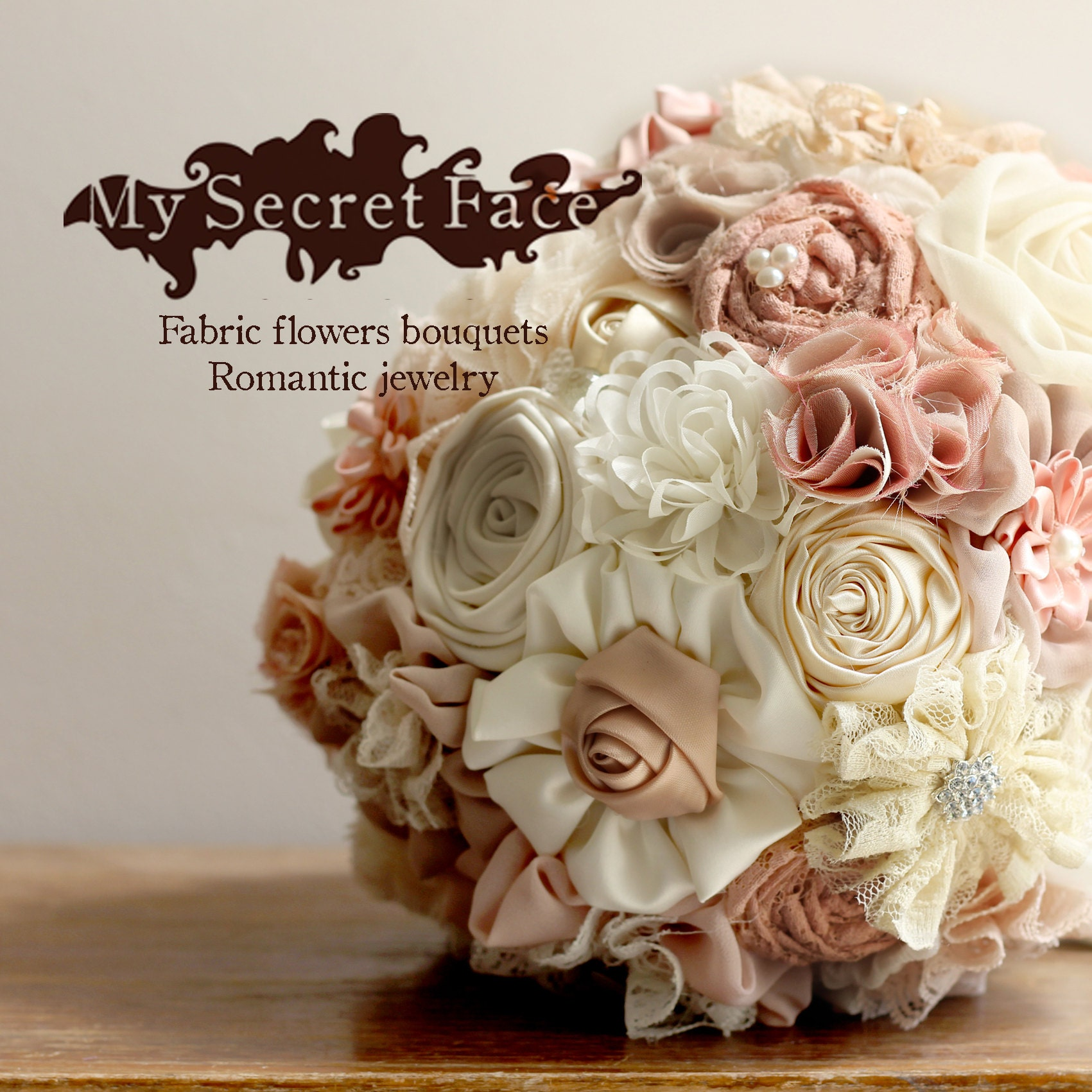 Fabric Bridal Bouquet Wedding Fabric Bouquet DEPOSIT