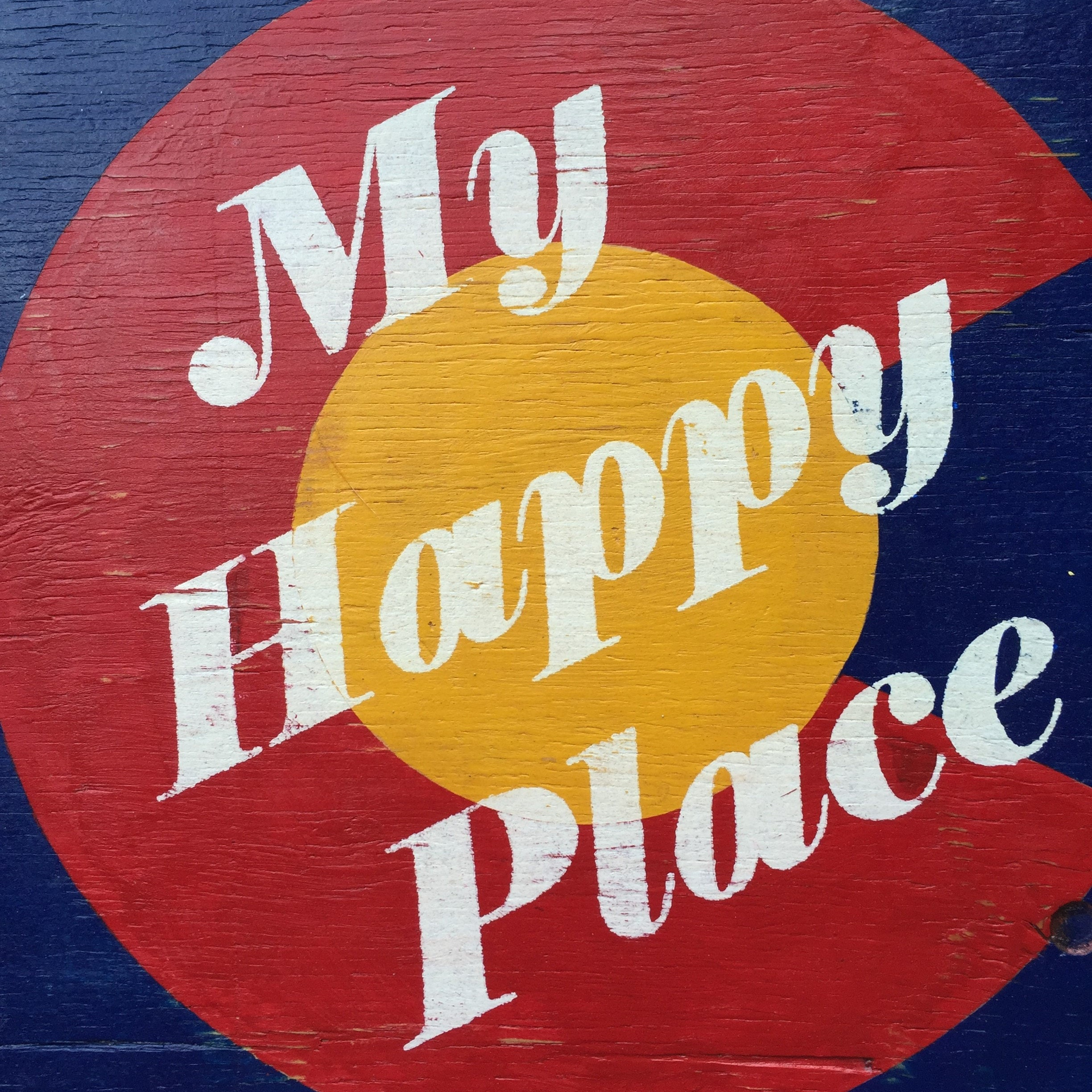 My Happy Place Sign Colorado Sign Colorado Wall Art State
