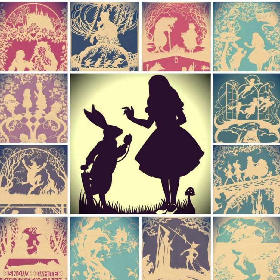 The Secret Garden papercut fairy tale art wall art paper