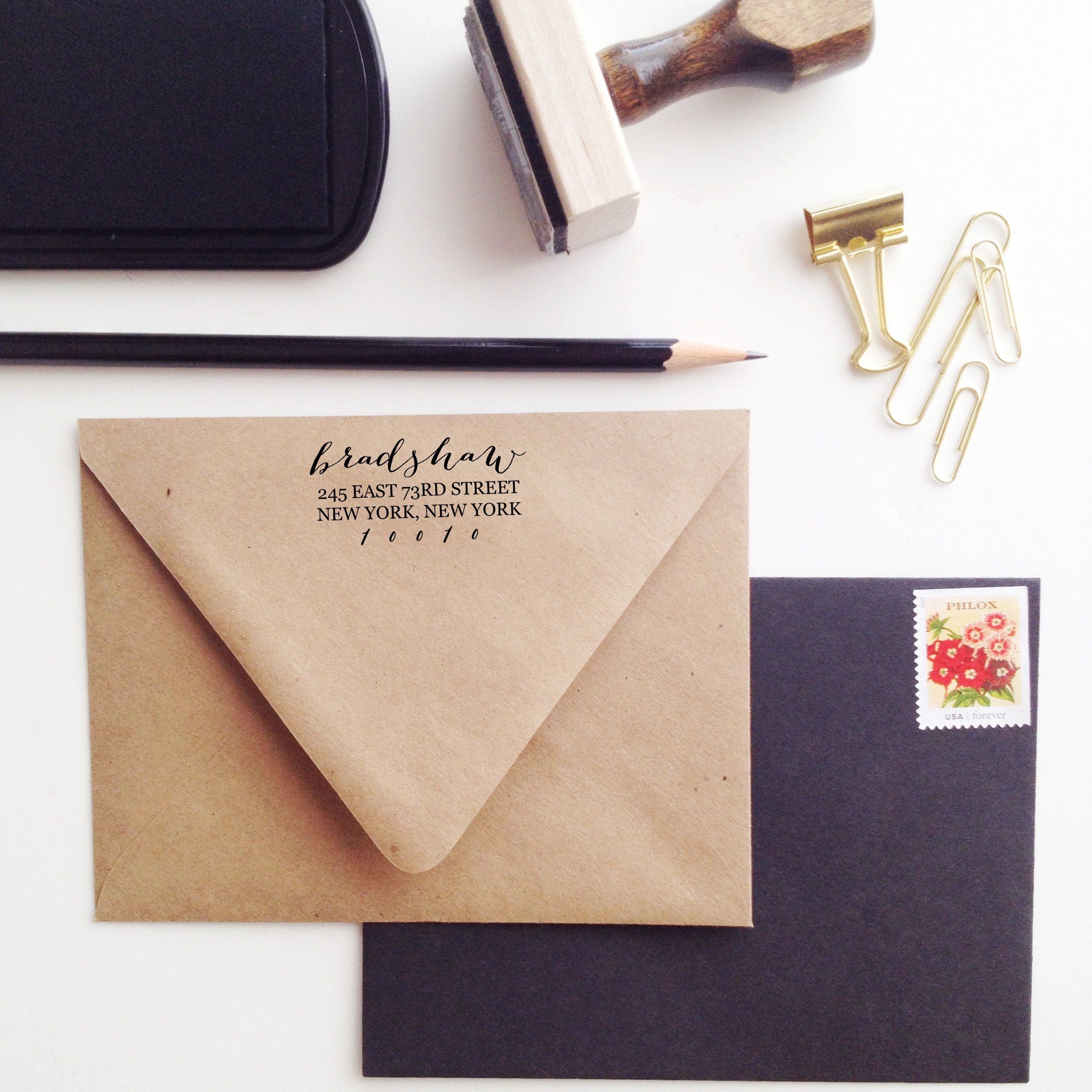 Confetti Business Card Stamp