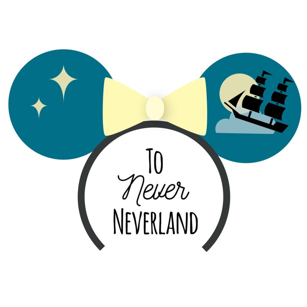 Custom Mickey Mouse Ear Headbands and by ToNeverNeverland on Etsy