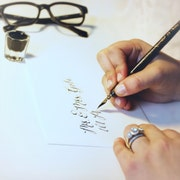 WhiteInkCalligraphy