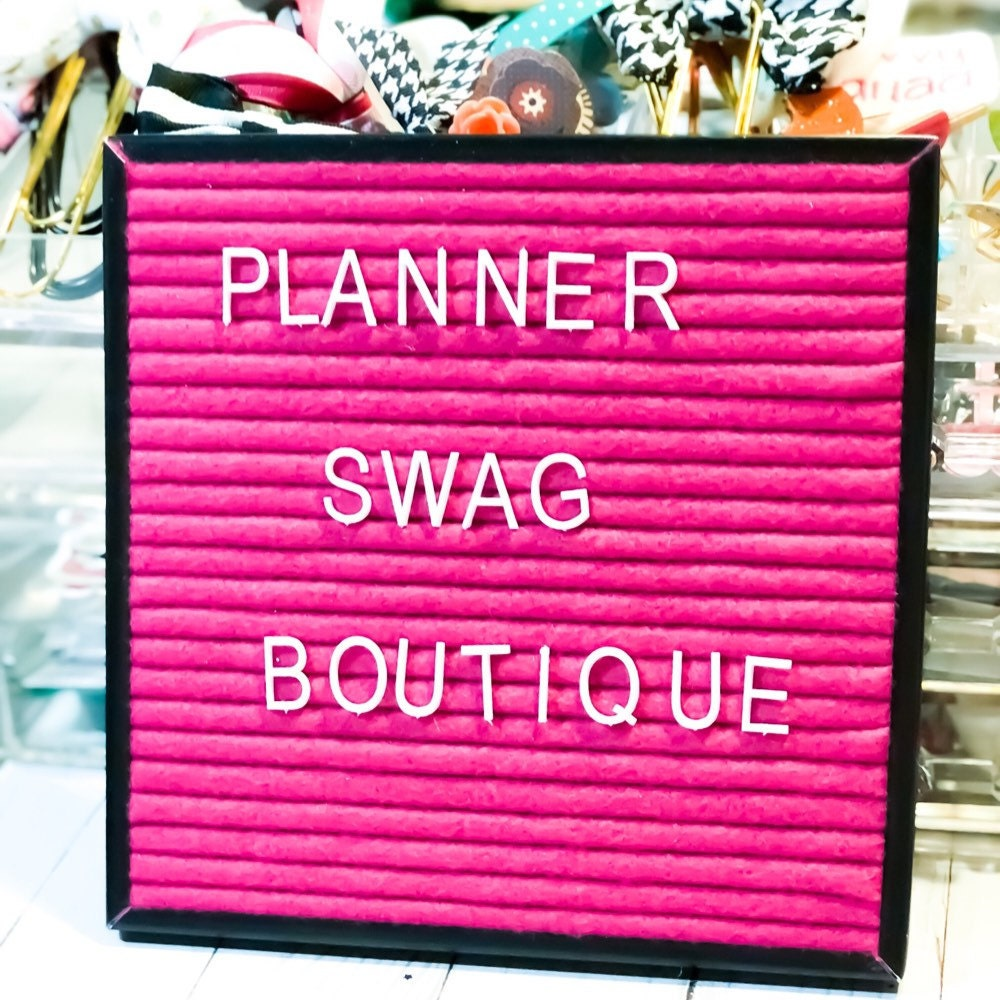 Planner Swag Boutique Planner Accessories by PlannerSwagBoutique