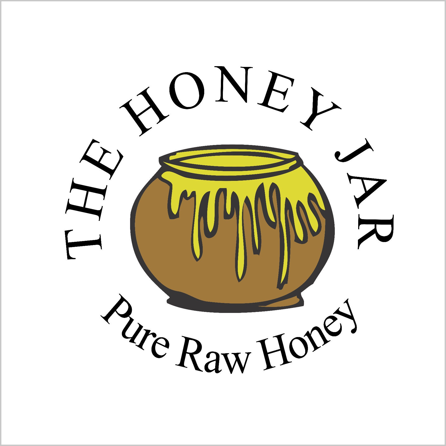 Set of 20 Hexagon Honey Jar with 3 wooden dipper and