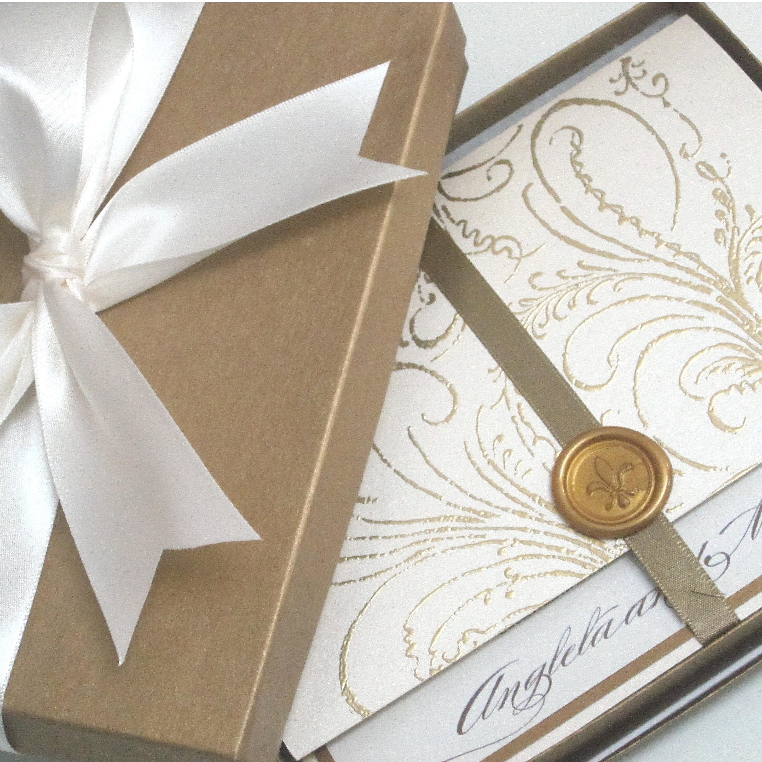 French Vintage Wedding Invitations: Vintage Wedding Invitation Sample Whimsical French Baroque