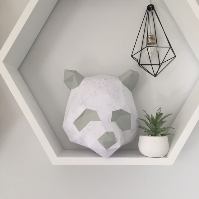 animal trophy heads von yumegamishop auf etsy. Black Bedroom Furniture Sets. Home Design Ideas