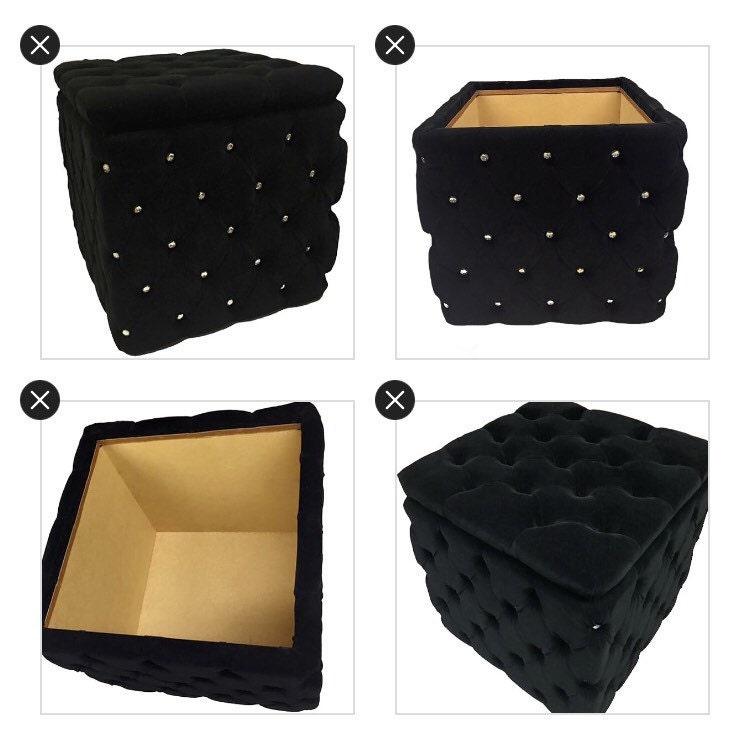 Encantador Otomana De Almacenamiento De Cubo Con Muebles De La ...