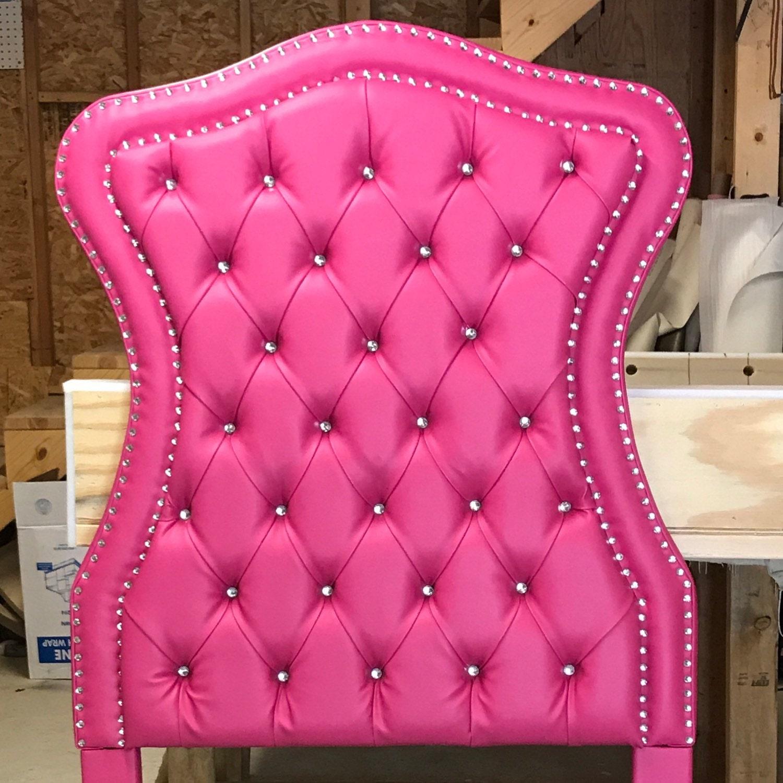 Rosa cabecera copetuda doble tamaño tapizado cabecero rosa