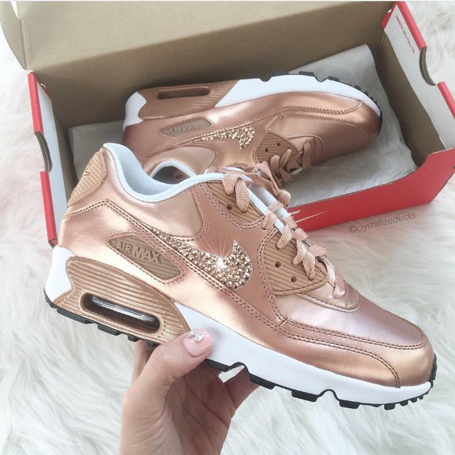 nike air max 90 premium trainers in metallic gold