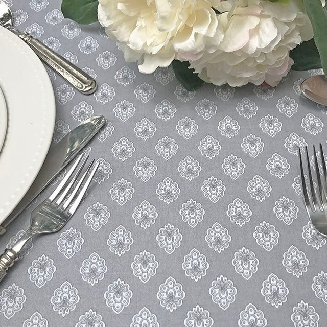 IndoorOutdoorProvence Tablecloth Sewn In By SoleildeProvence
