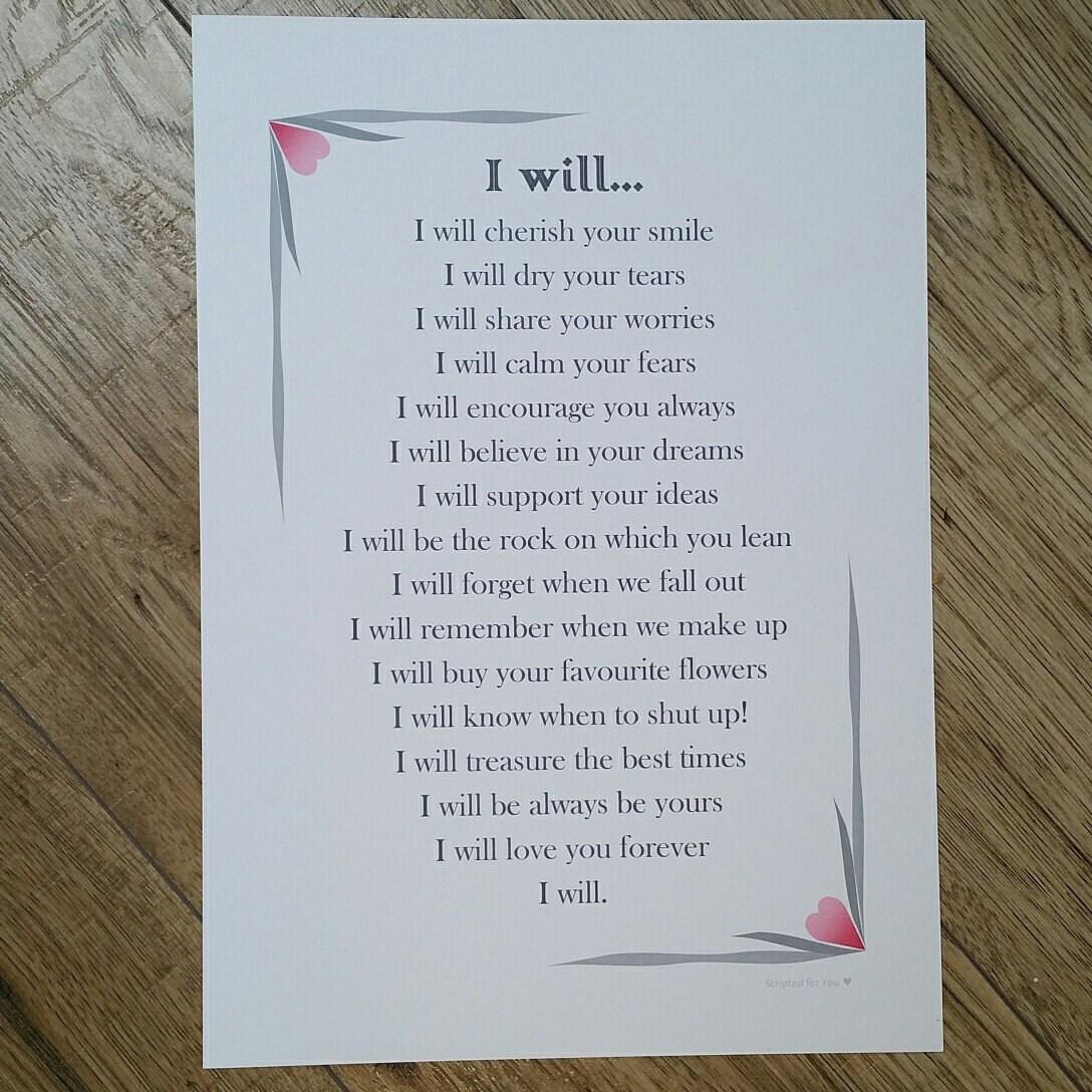 Impresión de votos boda regalo de boda imprimir amor