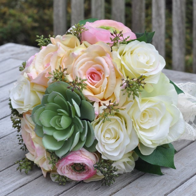 Silk Faux & Real Touch Bridal Wedding by Hollysflowershoppe