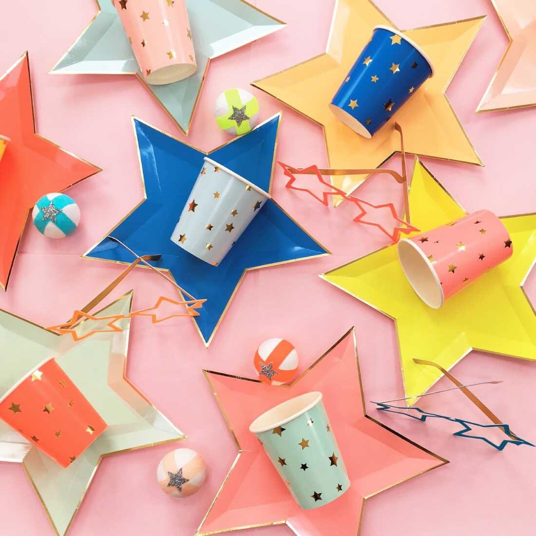 Star Shaped Plates (8) Meri Meri Jazzy Star Paper Plates Birthday Party Pastel Rainbow First Birthday Ideas Graduation Party Decor  sc 1 st  Etsy & Star Shaped Plates 8 Meri Meri Jazzy Star Paper Plates